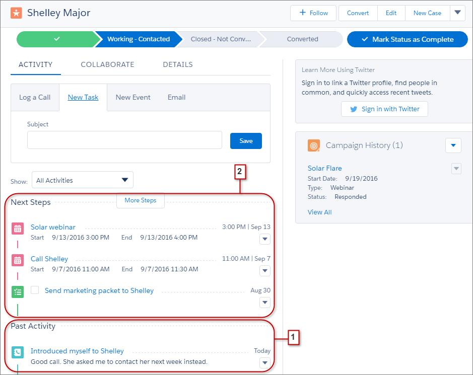 contact management sales cloud
