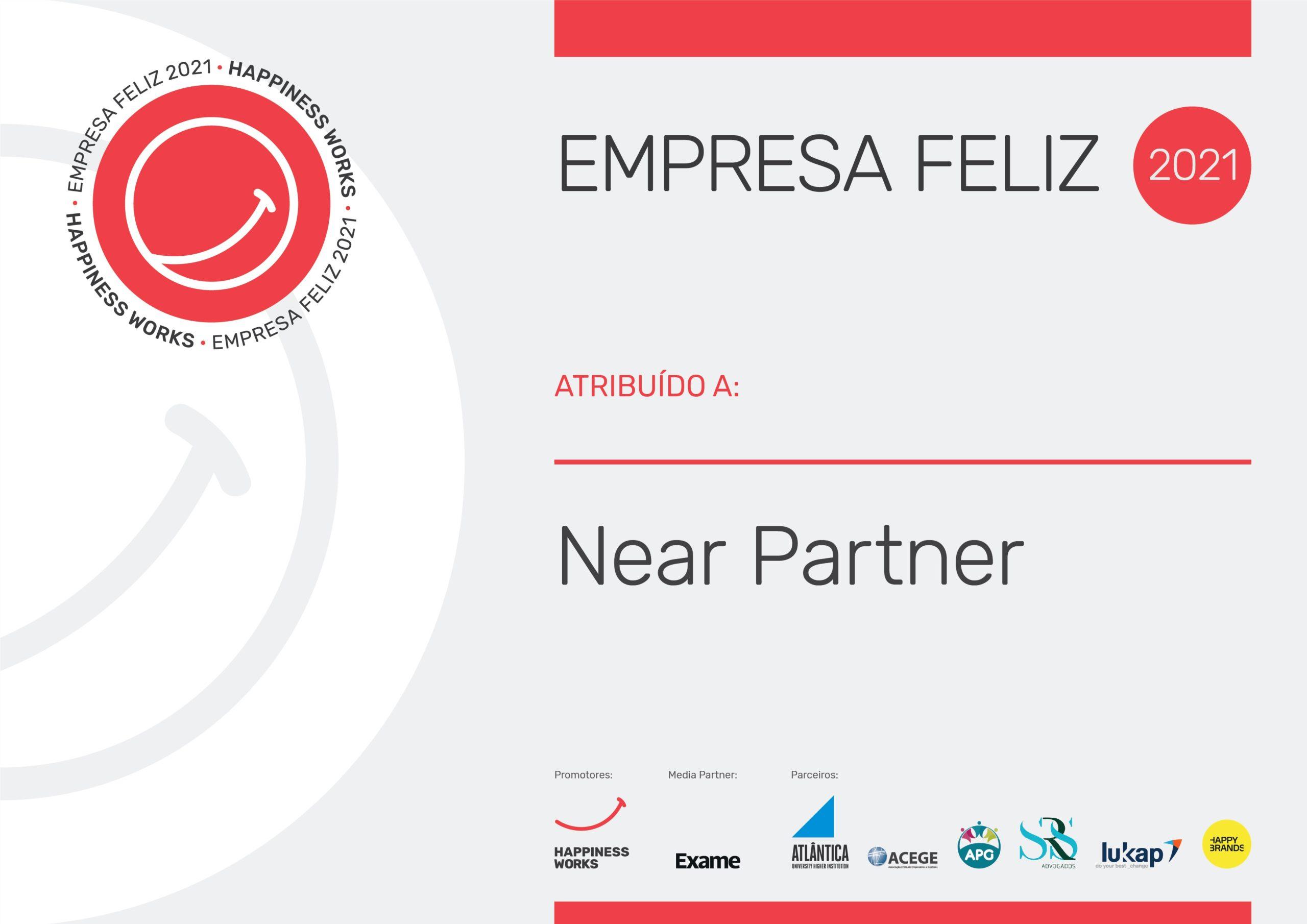 Diploma Empresa Feliz 2021 - Near Partner